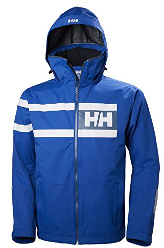 Helly Hansen Men's Salt Power Sailing and Boating Jacket, Olympian Blue, Large