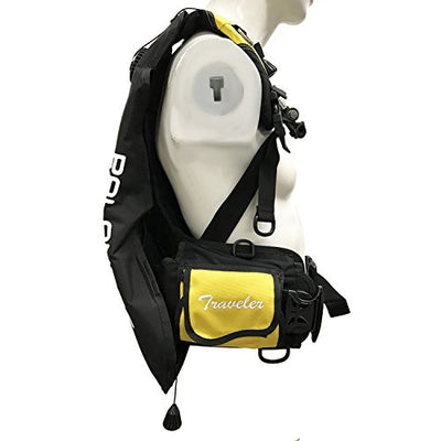 Palantic Scuba Choice Traveler Travel BCD, Yellow, M/L