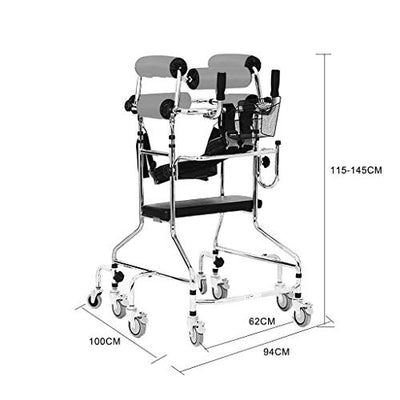 ZENGZHIJIE Foldable Walker,lightweight Medical Walker With Comfortable Grip - For Mobile And Transport Assistance - Suitable For The Elderly And Hands