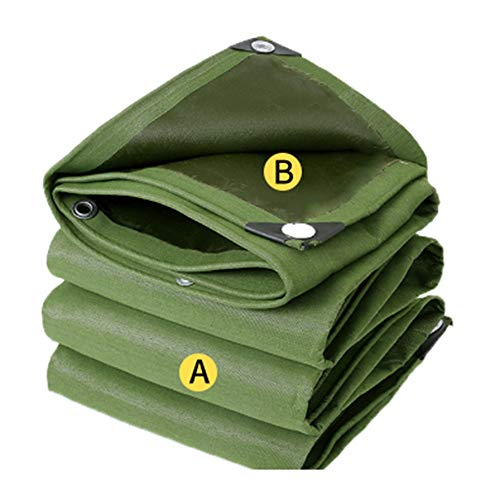 ALGFree Tarpaulin Tent Ripple Sunscreen Waterproof Fishing Gardening Pets Camping Car Multi-Purpose,23 Sizes (Color : Green, Size : 7.8×9.6m)