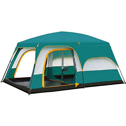 AN-JING Green Outdoor Two-bedroom One Coterie Picnic Picnic Cold Ardent Windproof Tent Large 8 People 10 People 12 People durable