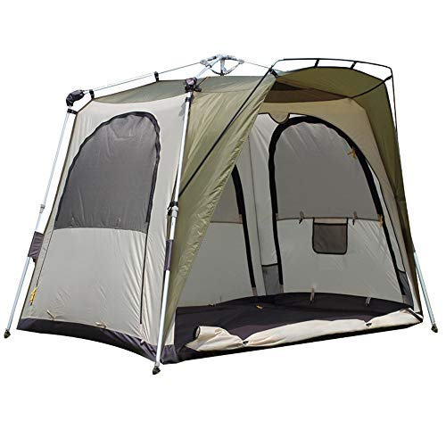 AN-JING Green Outdoor Automatic Fishing Tent Double Double Windproof Rainstorm Barbarian Fishing Night Fishing Tent Tumid Space durable
