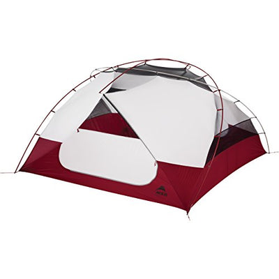 Msr Elixir 4 4Person (S) Grey, Red Group Tent – Camping Tent (4 Person (S), 4 Person (S), Hard Frame, Detachable Ground Cloth, Group Tent, Backpacking)