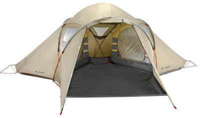 Vaude Waterproof Badawi Unisex Outdoor Dome Tent available in Beige - 4 Persons