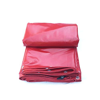 Always stick to success Tarps- Tarpaulin Padded Waterproof Sunscreen Rain Cloth Outdoor Shade Canopy Cloth Red Canvas Tarpaulin Cloth For Camping Fishing Gardening & Pets & etc (Size : 6m*8m)