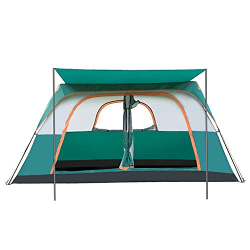 MRU Tarpaulinautomatic Tent Outdoor Two-Bedroom One Hall 8-12 People Family Rainproof Tent Double Multi-Person Wild Camping,395 * 275 * 230CM,