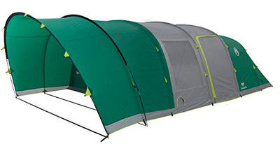 Coleman Inflatable Tent 6 man Valdes 6 XL, Camping Tunnel Tent with Air Poles, air tent six man, Family blow up tent with BlackOut Bedroom Technology, 100% waterproof with sewn in groundsheet