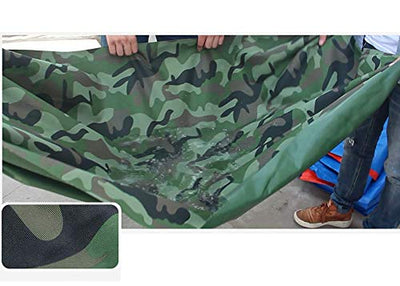 12-Huisongda outdoor tent Thick waterproof tarpaulin tarpaulin waterproof cloth with perforated foldable canvas (Size : 6×8m)
