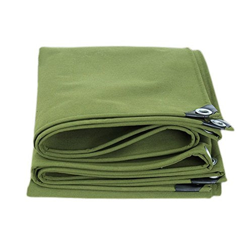 BIXIANGJI outdoor tent Tarpaulin thick canvas truck waterproof tarpaulin outdoor cold sun shade windproof dustproof wear-resistant anti-corrosion silicone cloth (Color : Green, Size : 4×5m)