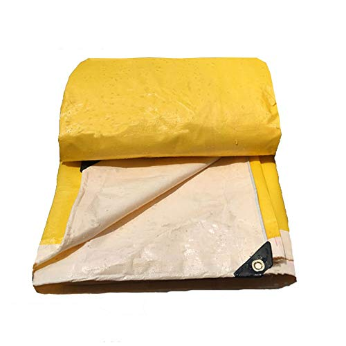 12-Huisongda outdoor tent Tarpaulin truck cover poncho tent outside shade dustproof windproof high temperature anti-aging (Color : Yellow, Size : 8X10M)