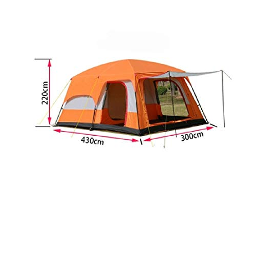SIHAOYUAN Tent 10 12 People Double Layer Outdoor Rooms And Family Camping Tent Large Space Tent A