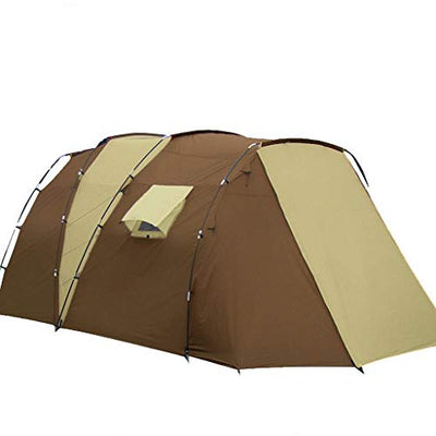 Dceer Outdoor tent, two-bedroom, one-person multi-family double-layer anti-exposure camp camping tent (Color : A01)