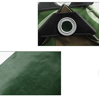 Tarpaulin Waterproof Sunscreen Camouflage Poncho Knife Scraping Canvas Ultra Light Outdoor Jungle Rain Cloth Shade (Color : Camouflage, Size : 5x10m)