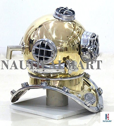 NauticalMart Marine Scuba Diving Divers Helmet Antique Mark Us Navy