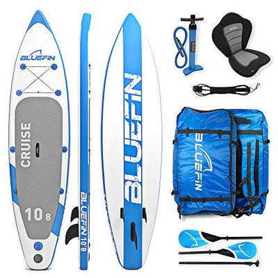 "Bluefin SUP Cruise Stand Up Inflatable Paddle Board with Kayak Conversion Kit, Ultimate iSUP Kayak Bundle (10'8"", 12'0"" and 15'0"")"