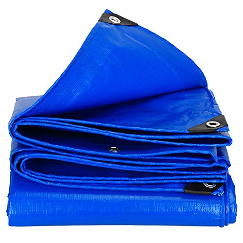 12-Huisongda outdoor tent Outdoor thickening waterproof waterproof sunscreen tarpaulin truck car shed cloth wear-resistant anti-corrosion PE (Color : Blue, Size : 10×12m)