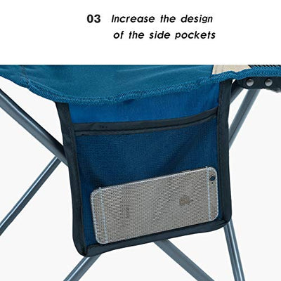 Lightweight Portable 4 Folding Camping Chairs and Table - with a Carry Bag for Kids for Outdoor, BBQ, Hiking, Picnic, Fishing, 600D Oxford Cloth with Carry,A
