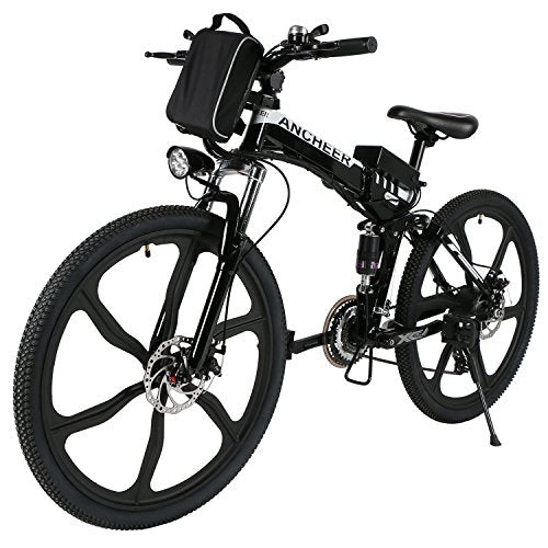 "ANCHEER 20/26/27.5"" Electric Bike for Adults, Electric Bicycle/Commute Ebike with 250W Motor, 36V 8/10Ah Battery, Professional 7/21 Speed Transmission Gears"