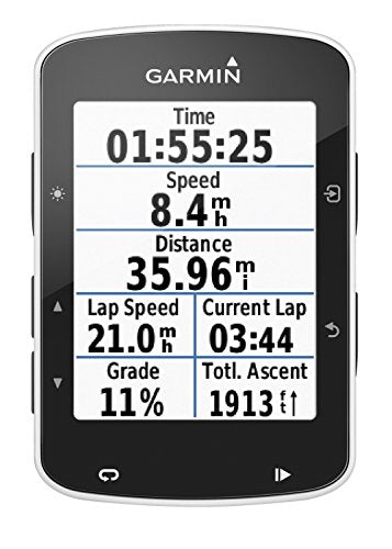 Garmin Edge 520 GPS Bike Computer With Heart Rate Monitor, 7.3cm x 4.9cm x 2.1cm