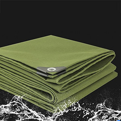 Outdoor Thick Tarpaulin Canvas Rainproof Cloth Waterproof Tarpaulin Sunshade Cloth Sunscreen Insulation Awning Cloth 600g M2 (Size : 5x10m)