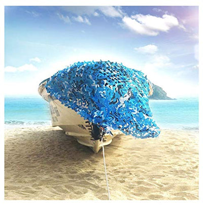 Camo Sunscreen Mesh,Camouflage Net Blinds Shade Netting Awning Cover Tent,for Camping Shooting Hunting Child Outdoor Activity Animals Photography Military Army Decoration Beach Fishing Feet ft,Blue