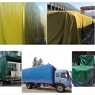 12-Huisongda Waterproof Thick waterproof cloth waterproof sunscreen tarpaulin tarpaulin truck car pvc rain awning cloth (Color : Grey, Size : 6 * 4m)