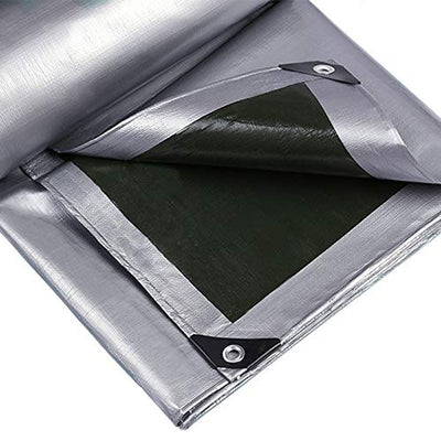 Tarpaulin Outdoor waterproof waterproof/heat insulation Rain cloth for Car truck pool, 160G/㎡ (Size : 10×15m)