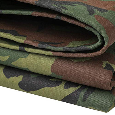 MRU Tarpaulin Outdoor Thickening Camouflage Tarpaulin Canvas Tent Waterproof Sunscreen Cloth Tarpaulin Shed Cloth for Car Factory Crop Dustproof Cold Resistance,4 * 7M,