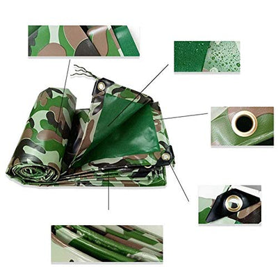 XFZK-Tarp Outdoor Tarpaulin Camouflage Tarpaulin Knife Scraping Cloth Poncho Tarpaulin Jungle Canvas Dustproof Camouflage Protective Cover waterproof cloth sunscreen thickening (Size : 10x10m)