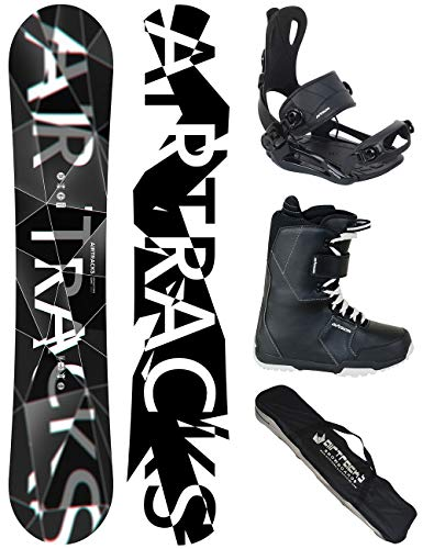 AIRTRACKS SNOWBOARD SET - WIDE BOARD REFRACTIONS GAME 155 - SOFTBINDING MASTER - SOFTBOOTS SAVAGE BLACK 47 - SB BAG