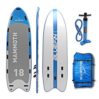 Bluefin Stand Up Inflatable Paddle Board | Mammoth 18' Model | Family/Group Board - Up To 10 Users | Includes Accessories