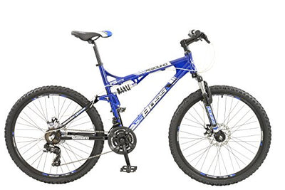Boss Rebound Mens 21 speed dual suspension mountain bike with disc brakes