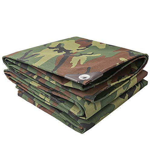 Tarpaulin Waterproof - Shade Cloth - Outdoor Thickening Camouflage Camouflage Tarpaulin Canvas Tent Poncho Sunscreen Poncho Cloth Tarpaulin Waterproof Tarpaulin - Thickness 0.7mm