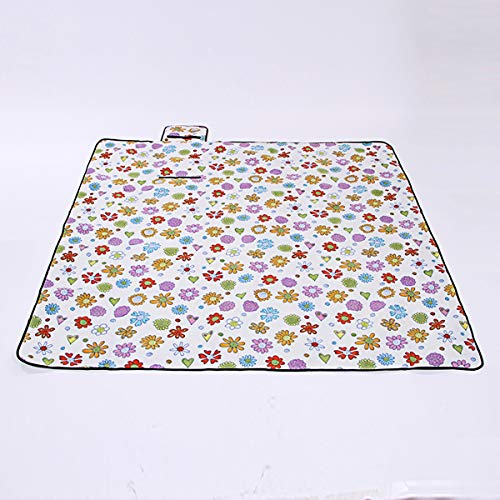 AN-JING Picnic Mat Flannel Aluminum Film Picnic Mat Outside Picnic Waterproof Folding Picnic Cover durable (Color : White)