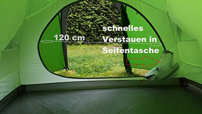 everest1953 Geodesic expedition Tent * 3 Person * TrekPeak3 light silicone coated green