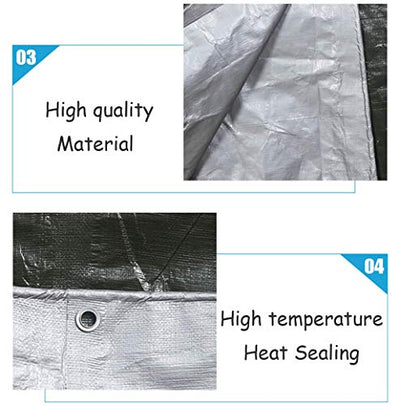 ACZZ Waterproof Tarpaulin Car Truck Fly Hammock Pool Tarp Cover Tent Shelter - Uv Resistant and Tear Resistance Awnings Cover Cloth Insulation,10M*10M