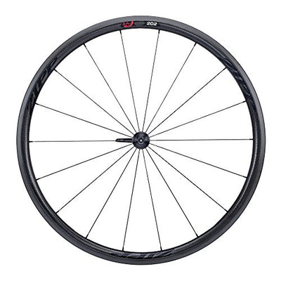 Zipp 202 Firecrest Carbon Clincher 77 Front 18 Spokes with Black Decal - Black