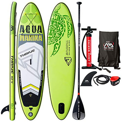 "Modern-depo Aqua Marina Thrive Paddle Board 9'9"" Inflatable Stand-Up Paddleboard ISUP with Standard Accessories Kit"