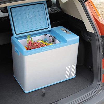 GUANHONG Portable 31-liter car heating and cooling box Mini car refrigerator Car outdoor mini refrigerator Small refrigerato