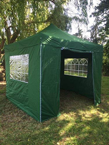 All Seasons Gazebos, Green, 3x3m, Heavy Duty Instant Pop Up, Fully Waterproof Gazebo Awning + 4 Premium Side Panels (Same Quality As The Roof) + Bag And 4 Sandbag Leg Weights