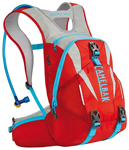 Camelbak Women's 2016 Solstice 10 LR Hydration Pack, Fiery Red/Silver