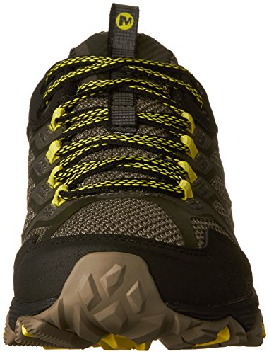 Merrell Men's Moab Fst Low Rise Hiking Boots, Green (Olive Black), 9.5 UK