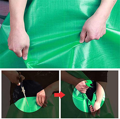 zhangchao Waterproof Multi-Purpose Poly Tarp - Tarpaulin Protector for Cars, Boats, Construction Contractors, Campers, And Emergency Shelter. Rot, Rust And UV Resistant Protection Sheet,9.7×19.7m
