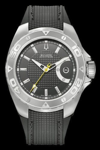 Accutron by Bulova Curacao Automatic Stainless Steel Mens Watch Black Dial 63B130