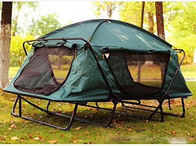 zcc Outdoor Camping Speed Open Tent Single Layer Oxford Cloth Ultra Light Single Person Free To Build Off-ground Tent