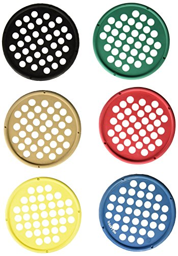 "CanDo Web Hand Therapy Device, Latex-Free, 7"" Diameter, Set (Tan, Yellow, Red, Green, Blue, Black)"