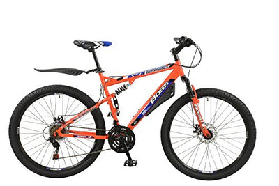 "BOSS Men's Carnage Dual Suspension 27.5"" 650b Mountain Bike 21"" for Taller Riders."