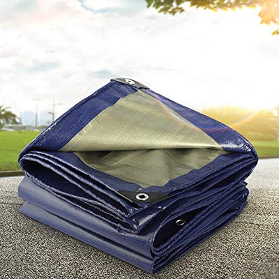 CL- tarpaulin Thicken waterproof cloth waterproof sunscreen tarpaulin truck car tarpaulin insulation tent outdoor tarpaulin, blue, 24 sizes *@* (Size : 10mX12m)