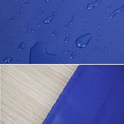 Thickened PVC Tarpaulin With Metal Buttonhole -0.4mm-420g/m2-blue Winter Cold, Summer Shade (Color : 6X7M)