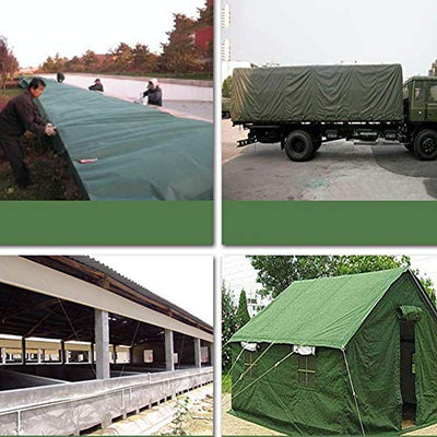 12-Huisongda outdoor tent Camouflage tarpaulin waterproof sunscreen canvas tent cloth tricycle car shed cloth anti-corrosion anti-corrosion (Color : Camo, Size : 4x6M)